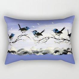 Purple Art with Gray Rectangular Pillow