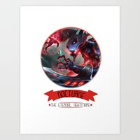 league of legends Art Prints featuring League Of Legends - Nocturne by TheDrawingDuo