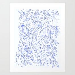 Character dump 2017 Art Print