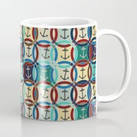 anchors Mugs featuring anchors by Sharon Turner