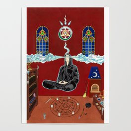 The Raven's Illumination Tarot: The Magician Poster