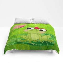 Cute Girl Frog  Comforters