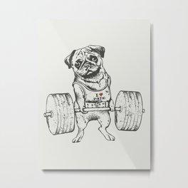 Pug Lift Metal Print