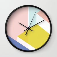 architect Wall Clocks featuring Geo Architect (i) by No Butter