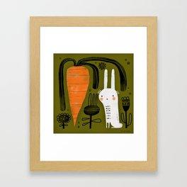 CARROT & RABBIT Framed Art Print