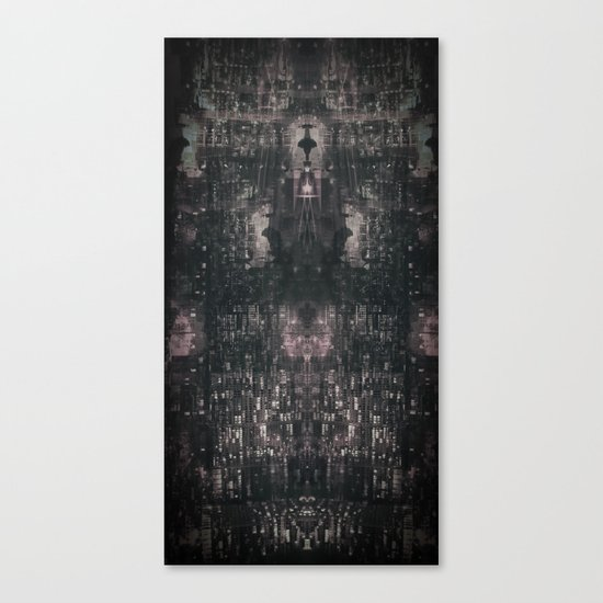 city chandelier Canvas Print