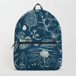 Indigo - Australian - floral - study Backpack