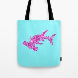 Nancy's Hot Pink Tribal Hammerhead Shark Tote Bag