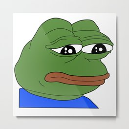 FeelsBadMan Metal Print