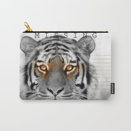 Tiger MISSING Carry-All Pouch