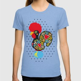 Famous Rooster of Barcelos 01 | Lucky Charm & Polka Dots T-shirt