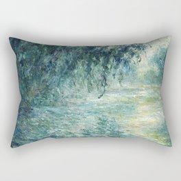 1898-Claude Monet-Morning on the Seine- 73 x 91 Rectangular Pillow