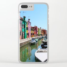 Burano summer Clear iPhone Case