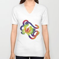 swag V-neck T-shirts featuring Swag by Haze Design