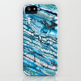 Blue Marble with Black iPhone Case