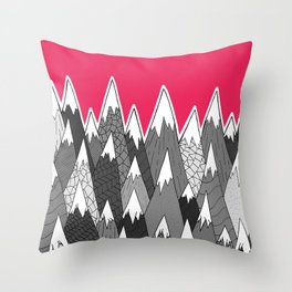The Tall Grey Mountains Throw Pillow