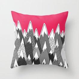 The Tall Grey Mountains Throw Pillow