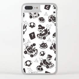 Mario Kart Pattern Clear iPhone Case