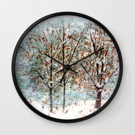 Snow Storm up Dewdrop Holler Wall Clock