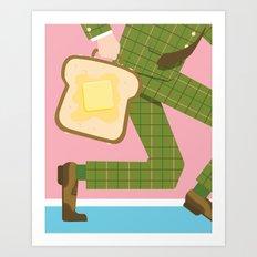 Breakfast on the Go Art Print