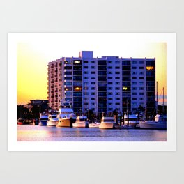 Waterfront Condos Art Print