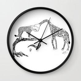 Giraffe/Cheetah Wall Clock