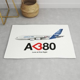 Airbus A380 - Love at First Flight  Rug