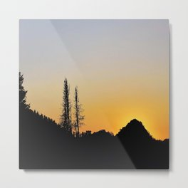 Wasatch Sunset Metal Print