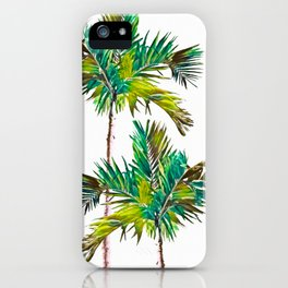 Fishtail Palm Trees iPhone Case
