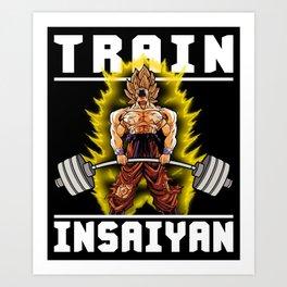 TRAIN INSAIYAN (Goku Deadlift) Art Print