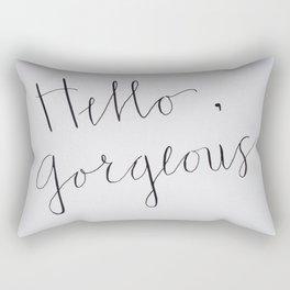 Hello, Gorgeous! Rectangular Pillow