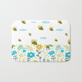 Bee Flaying Bath Mat