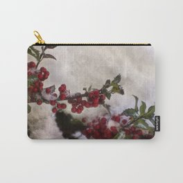 Snow on the Holly Carry-All Pouch