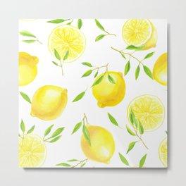 Lemons and leaves  Metal Print