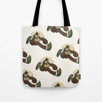 running Tote Bags featuring Running by Leodoglover