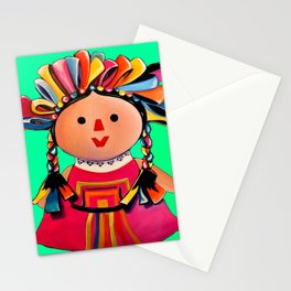 Mexican Maria Doll 3 Stationery Cards
