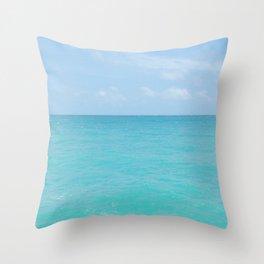 Above the sea Throw Pillow