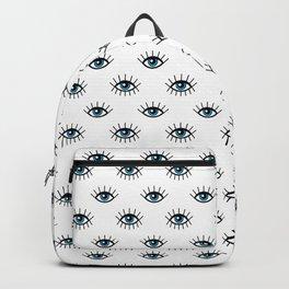 Evil eyes pattern Backpack
