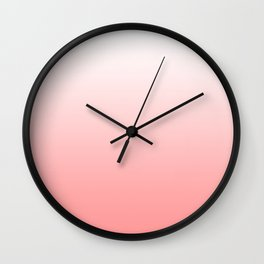 White Coral Ombre Wall Clock