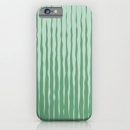 Simple Abstract Rough Organic Stripes | Dark Natural Colors, Grass and Forest iPhone Case