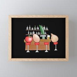 salad bar Framed Mini Art Print