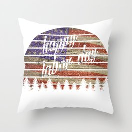 Celebrate American labor day T Shirt For Man and Woman Throw Pillow