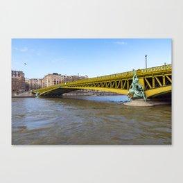 Pont Mirabeau over the Seine - Paris Canvas Print
