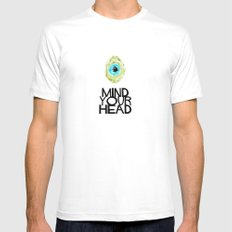 Mind your HEAD MEDIUM Mens Fitted Tee White