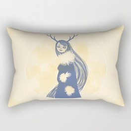 Lady Blue Rectangular Pillow