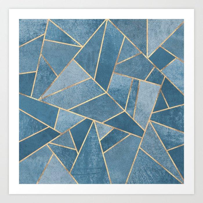 Dusk Blue Stone Kunstdrucke
