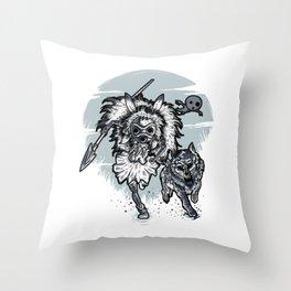 The wolf princess warrior Throw Pillow