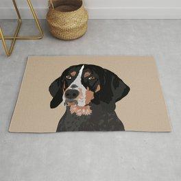 Maggie bluetick coonhound Rug