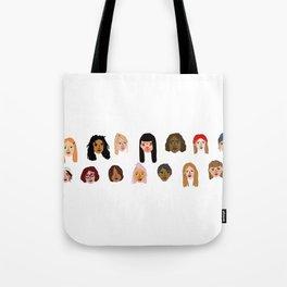 faces of female Tote Bag
