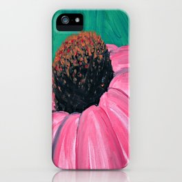 Pink Cone Flower iPhone Case